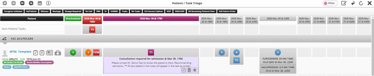 task triage schedule